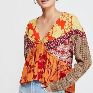 Free People Aloha State of Mind Patchwork Top